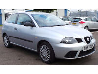 2007 57 SEAT IBIZA 1.2 REFERENCE MOT 07/17 56K (CHEAPER PART EX WELCOME)