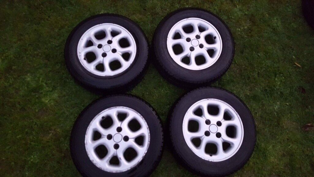 """14"""" alloy wheels set of 4 with tyres"""