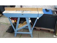 wood planer with custom table and dust extractor