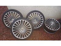 19 inch alloy wheels 5 stud fit vw tt beetle 5x100