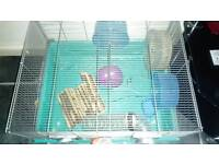 Large hamster cage with accessories wheel, tubes and ball