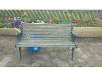 Two seater bench reserved for collection
