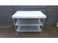 Stainless Steel Table with Food Grade Plastic Top - Local Delivery Also Available