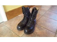 British Army Military RAF Leather Boots Size 8