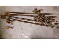 2 Wooden Curtain Poles