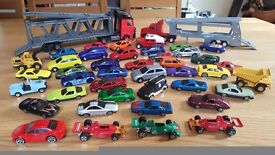 Bundle toy cars and car transporters