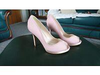 Pink Jenny Packham No1 heeled leather/satin stiletto heels