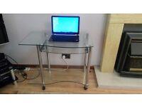 Glass & Chrome Desk for Home use