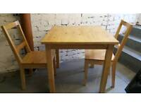 IKEA small table & 2 chairs.