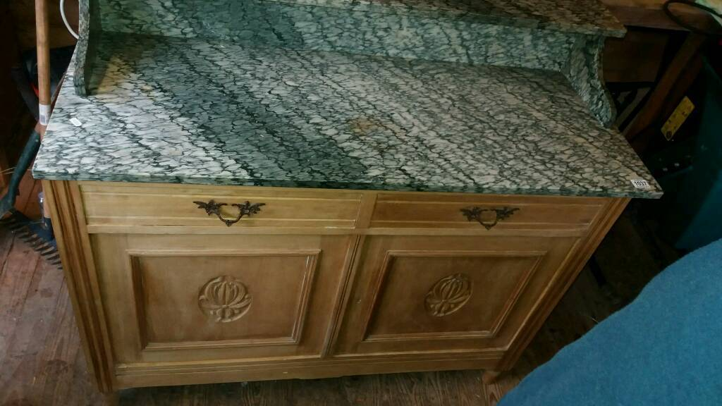 Marble topped Line cupboard
