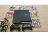 Slim PS3 with 7 games