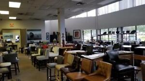 Large Collection of Bar Stools, Kitchen Counter Stools, Dining Chairs in Leather and Fabrics