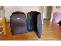 2 x Grey Constellation suitcases