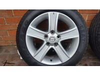 "SPARE GENUINE OEM ALLOY WHEEL MAZDA 6 16"" 205 55 16 7Jx16 ET 55 2002-2007"