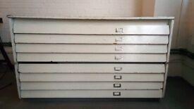 White Art / Print Cabinet