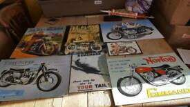 Collection of metal signs