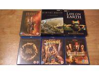 Blu-ray box sets dvd bulk lot lord of the rings goonies
