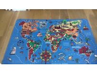 Kids/Child playmat rug world map
