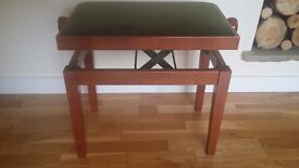 Wooden Height Adjustable Piano Stool - Good condition