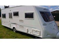 vanlander 560-4 2005 4 berth luxury touring caravan motor mover twin fixed beds fantastic layout