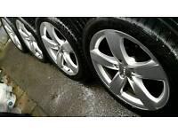 "Genuine Audi 18"" Alloys 5x112 and 7mill tyres Volkswagen Mercedes Skoda"