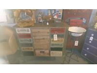 NEW. industrial style multi drawer sideboard