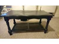 Black wooden coffee table £25