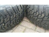 "GENUINE 19"" LANDROVER DISCOVERY ALLOY WHEELS 12MM OFF ROAD GOODYEAR WRANGLER ALL TERRAIN TYRES"