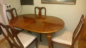Reduced to sell, must go, Extendable dining table and chairs