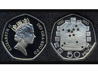 1992-1993 50 Pence Coin