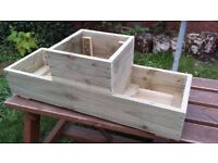 ***NEW 1-2-1 GARDEN FLOWER PLANTERS***SALE PRICE*** 3 Cell, treated wood, Quality handmade!!!