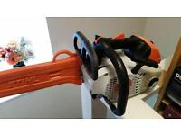 Stihl top handed chain saw