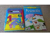 Children's wipe clean writing books,