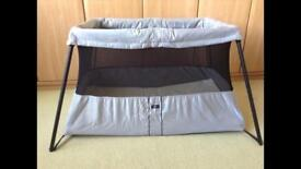 Baby Bjorn travel cot plus two sheets