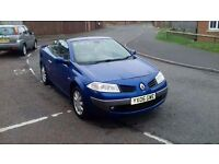 2006 renault megane 1.6 cc convertible only 70k miles immaculate