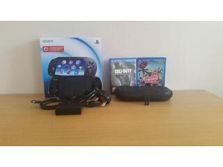 Wifi and 3g ps vita bundle. (ps vita,charger,games and carry case).