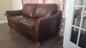 3 -seater Brown Genuine leather sofa. Warranty available until Dec 2021