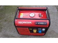 Honda generator 6.5kva.......