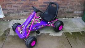 Girls go kart pink and purple excellent condition