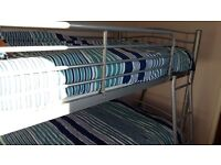 Lovely silver bunk beds