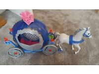 Cinderella Carriage with Horse