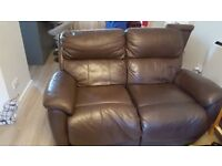 3 + 2 seater electric recliner sofa - brown