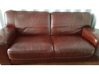 Two leather sofas from non smoking home with no pets.