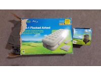 Tesco flocked inflatable airbed with pump