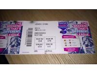 1 adult and 1 child ticket for Sunday 21 may rugby magic weekend