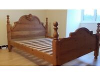 Luxury Carved Solid Wood King size Bed frame.