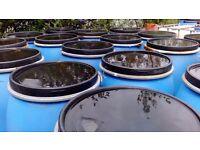 200 lt plastic barrels with lids