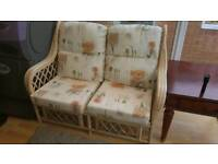 Conservatory furniture. 1 x 2 seater, 2 single seaters. Recently upholstered