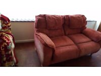 FREE Two seat Sofa/settee free. No charge,, no fees no catches , just need it gone!!