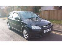 Vauxhall Corsa 1.4 Black Edition 2004 04 reg Leather Seats £595